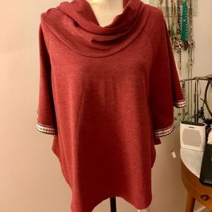 Flattering poncho with bell sleeves